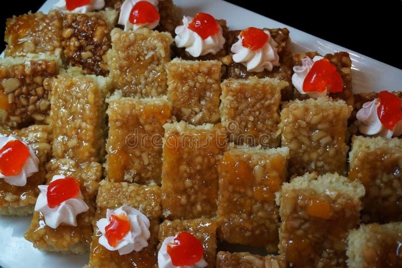 deserti dolci dall'Egitto fotografia stock