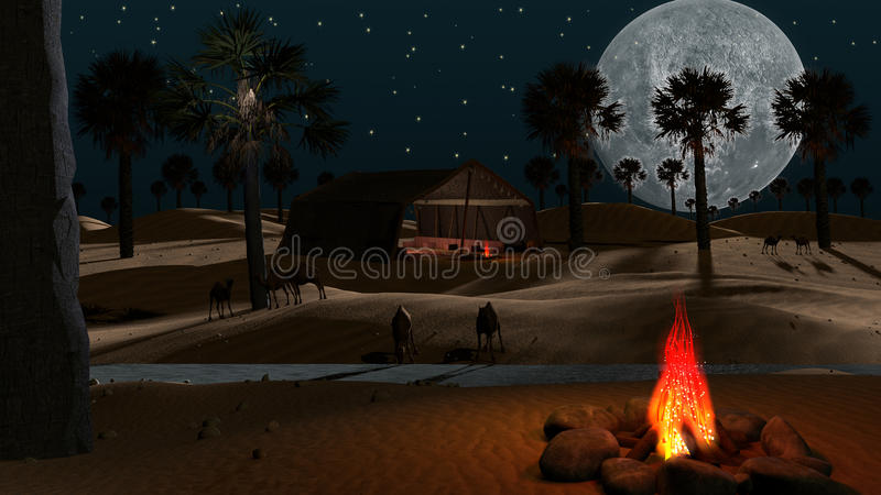 Deserto árabe ilustração stock