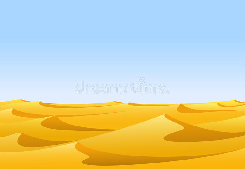 Deserto ilustração do vetor