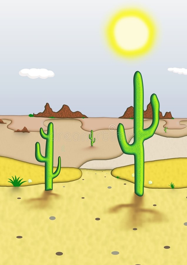 Deserto illustrazione di stock