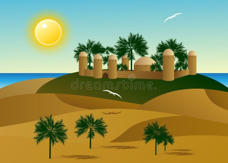 Deserto ilustração stock