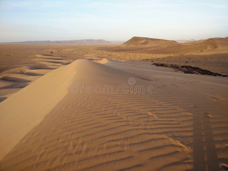 Deserto alaranjado mágico foto de stock royalty free
