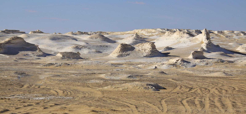 Deserto bianco, Egitto immagini stock