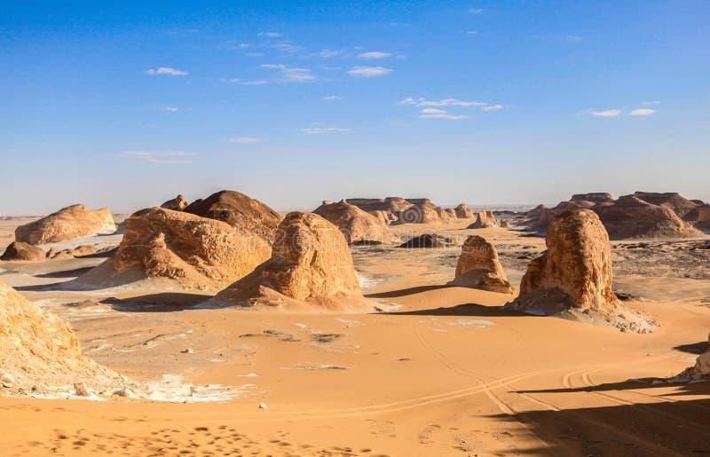 Deserto bianco, Egitto fotografia stock libera da diritti