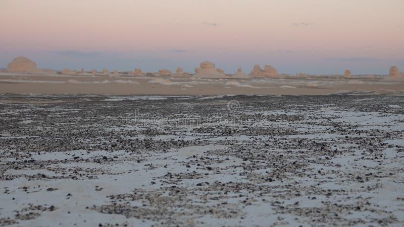 Deserto bianco L'Egitto 2019 fotografie stock