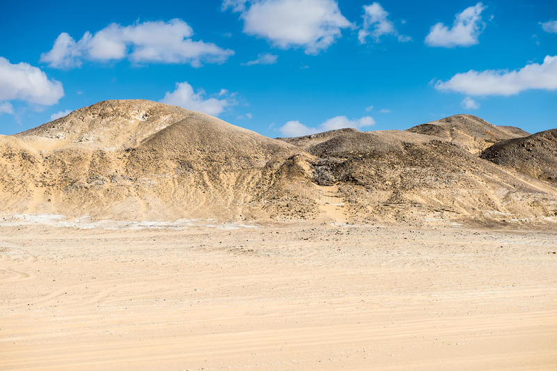 Deserto bianco occidentale, nell'Egitto fotografia stock