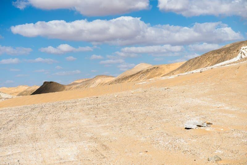Deserto bianco occidentale, nell'Egitto immagine stock libera da diritti