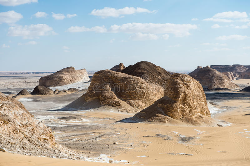 Deserto bianco occidentale, nell'Egitto fotografie stock