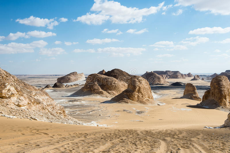 Deserto bianco occidentale, nell'Egitto immagini stock