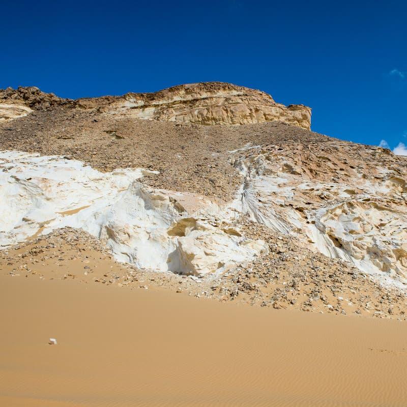 Deserto bianco occidentale, nell'Egitto immagine stock