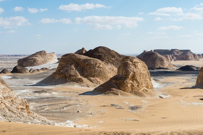 Deserto bianco occidentale, nell'Egitto immagini stock libere da diritti