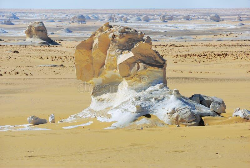 Deserto bianco occidentale, Sahara Egypt fotografia stock libera da diritti