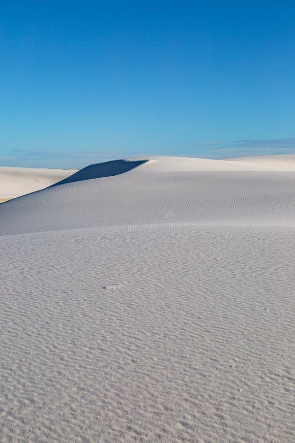 Deserto branco das areias em New mexico imagem de stock