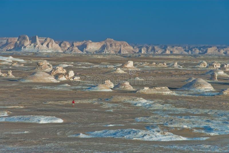 Deserto branco, Egipto imagens de stock