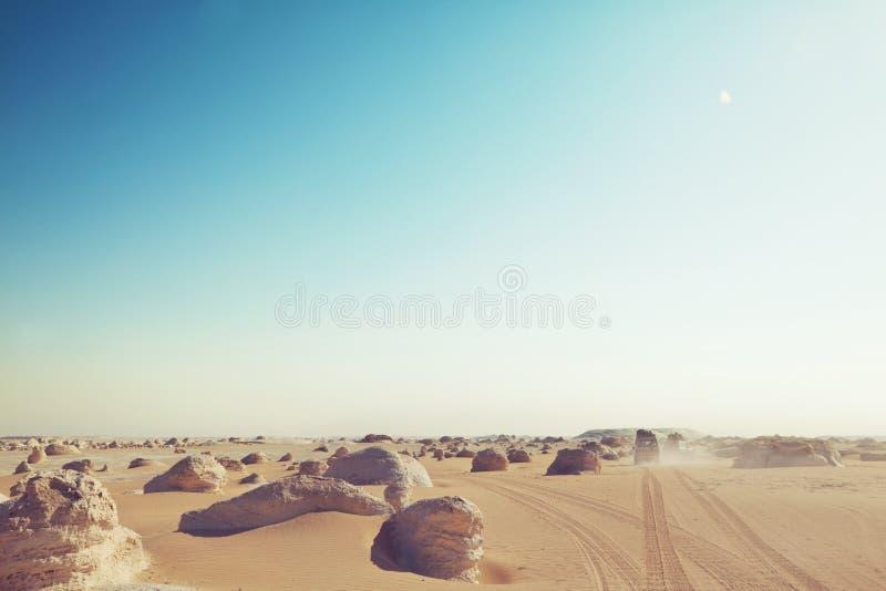 Deserto branco em Egito imagem de stock