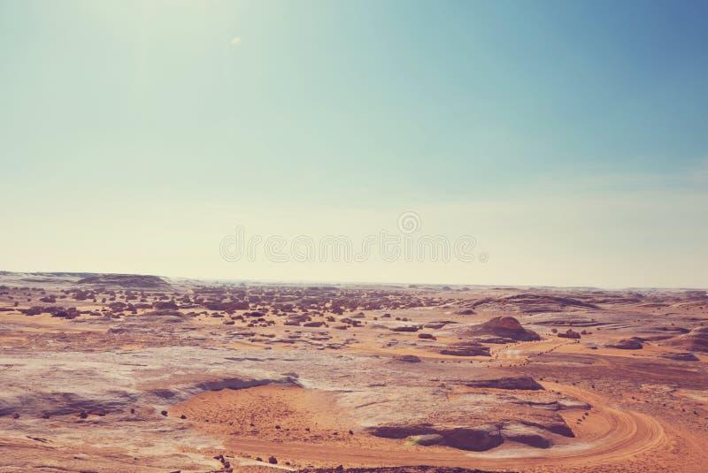 Deserto branco em Egito imagem de stock royalty free