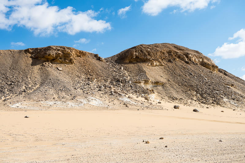 Deserto branco ocidental, em Egito fotos de stock royalty free