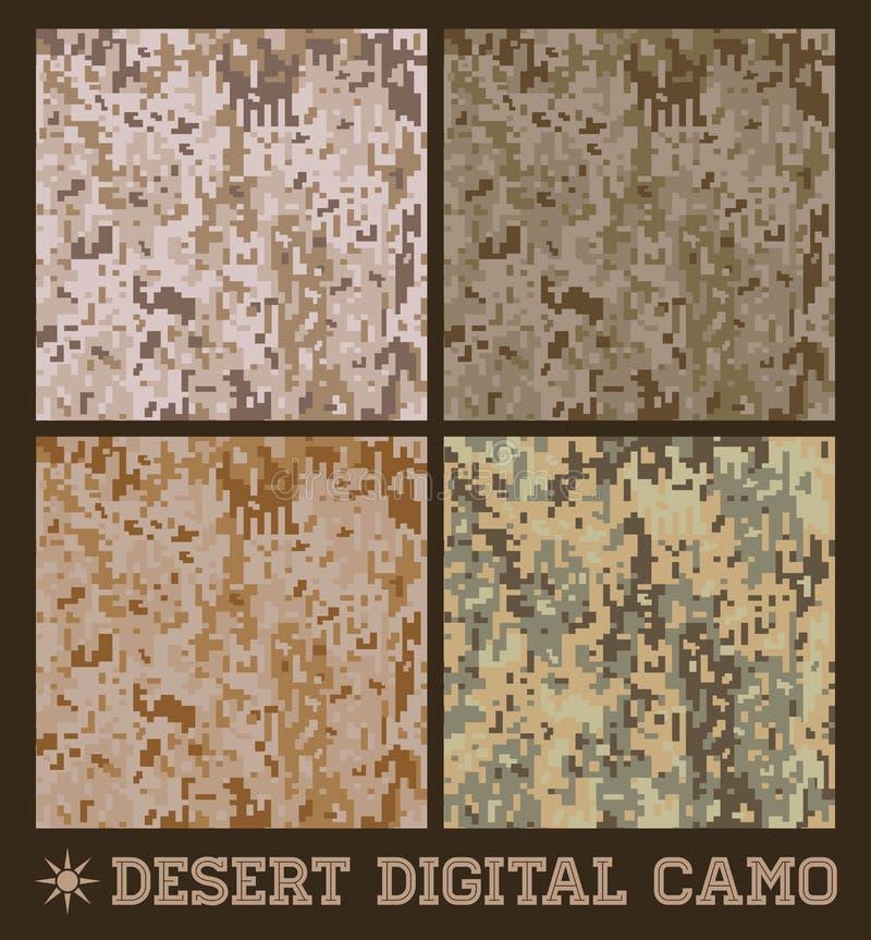 Deserto - camuflagem digital do vetor sem emenda ilustração do vetor
