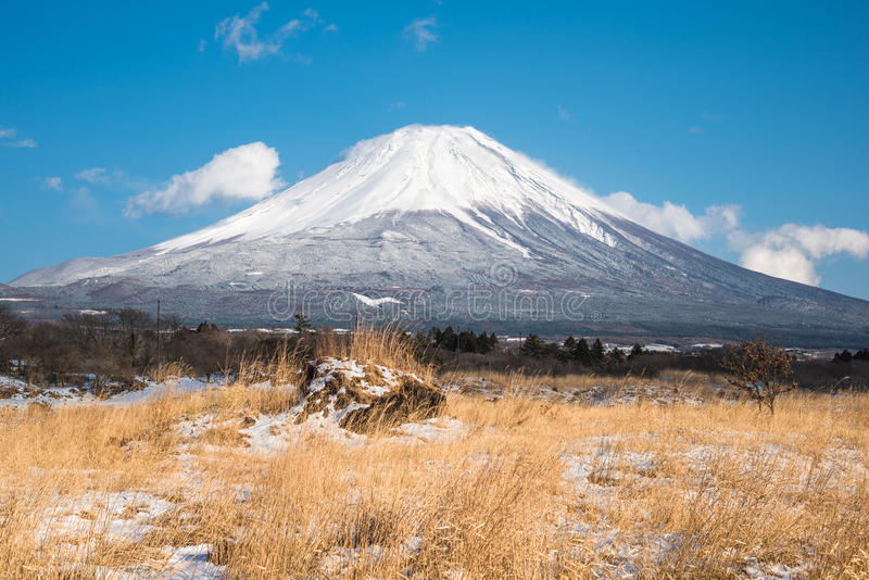 Deserto com Fuji foto de stock royalty free