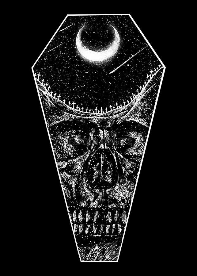 Deserto da ilustração da arte do projeto da morte ilustração royalty free