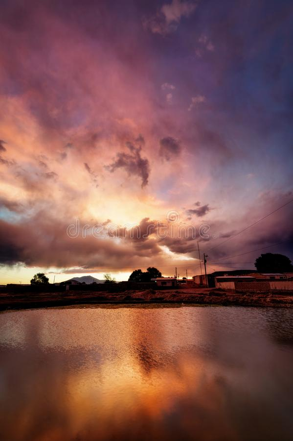 Deserto de Bolívia Atacama fotografia de stock royalty free