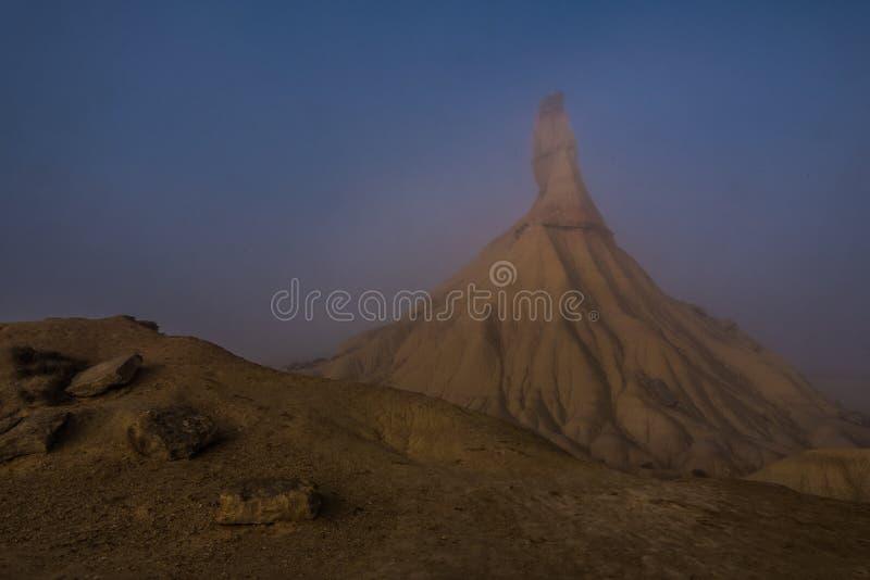 Deserto de Castil de Tierra Berdenas Reales na Espanha de Navarra imagens de stock