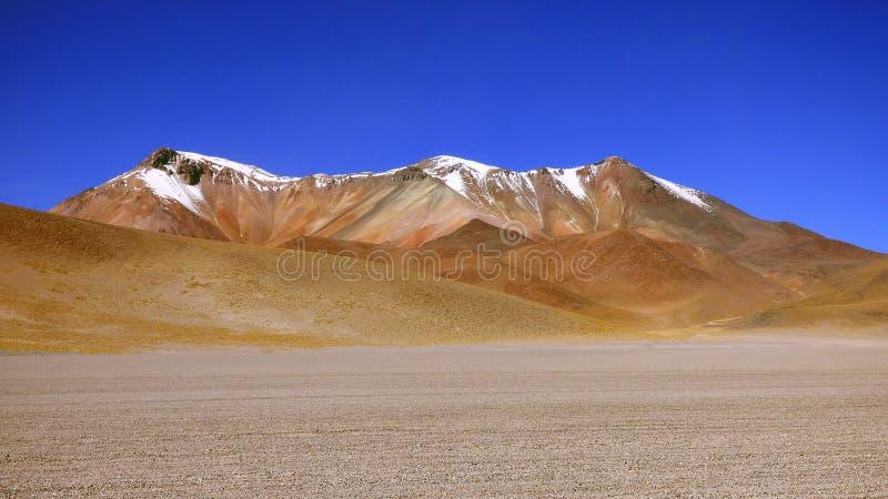 Deserto de Dali em Altiplano Bolívia, Ámérica do Sul imagens de stock