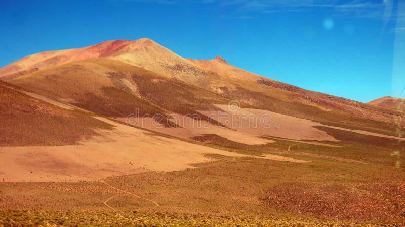 Deserto de Dali em Altiplano Bolívia, Ámérica do Sul fotos de stock