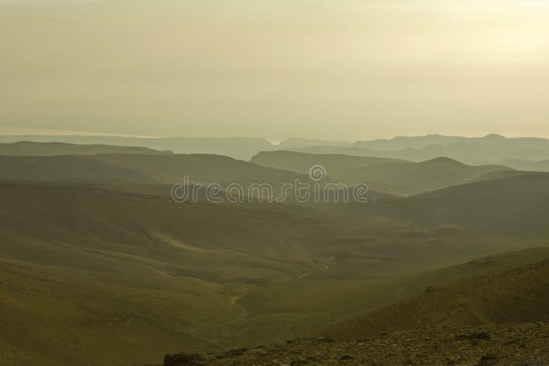 Deserto de Judean e mar inoperante. Manhã. imagens de stock royalty free