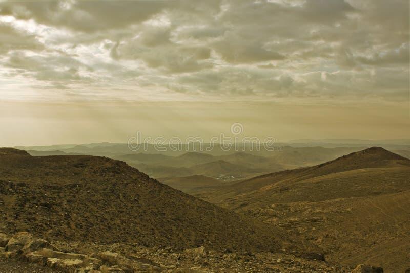 Deserto de Judean e mar inoperante. Manhã. fotografia de stock
