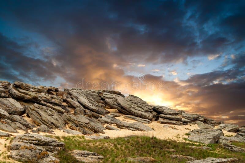Deserto de pedra imagem de stock