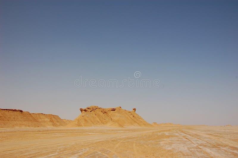 Deserto de Sahara do verão em Tunísia fotografia de stock