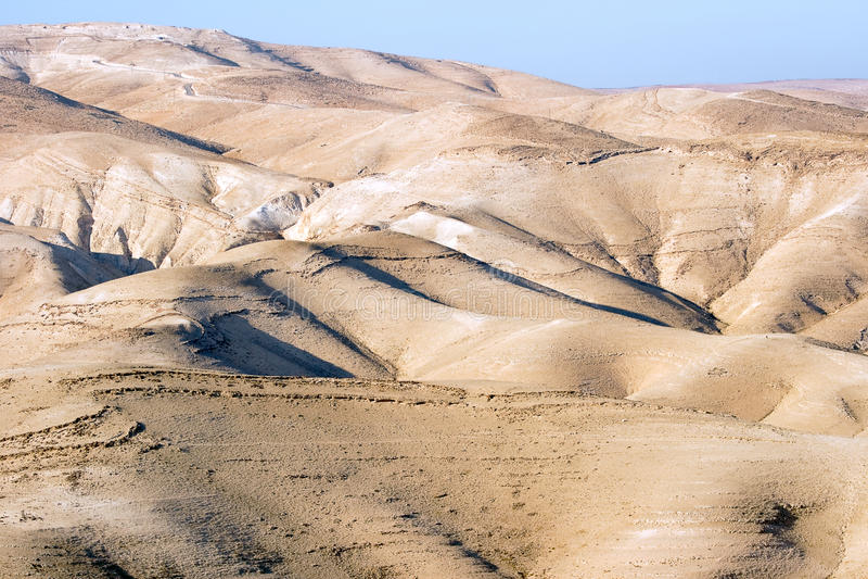 Deserto de Yehuda foto de stock royalty free