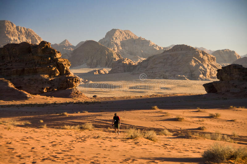 Deserto del rum dei wadi, Giordano fotografie stock