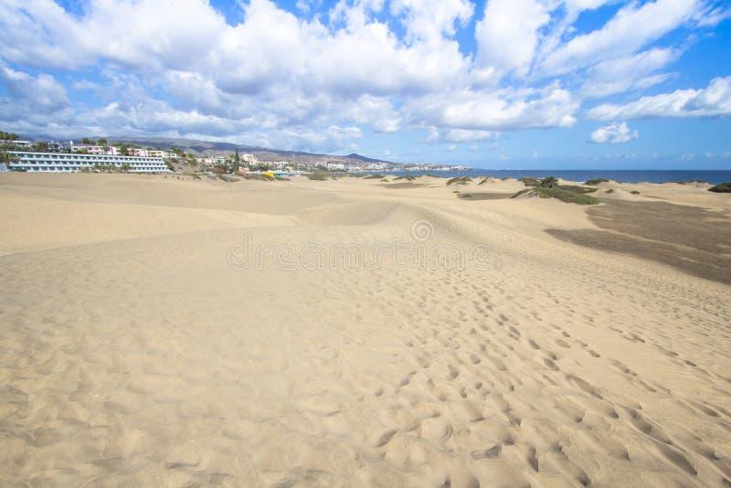 Deserto della duna di sabbia di Maspalomas, grande Canaria fotografie stock libere da diritti