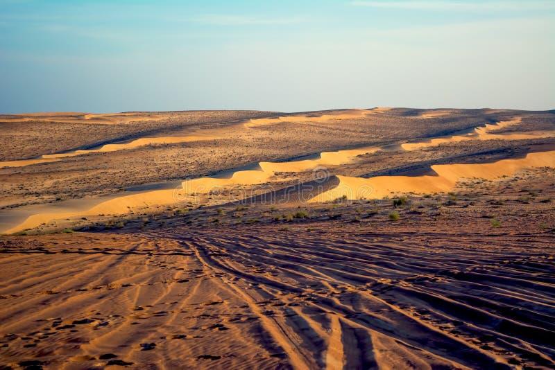 Deserto della sabbia di Wahiba, Oman fotografia stock