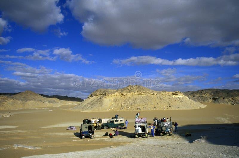 DESERTO DI BIANCO DELL'AFRICA EGITTO SAHARA FARAFRA fotografia stock libera da diritti