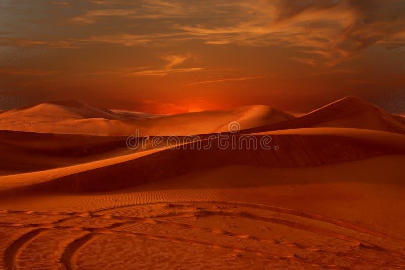 Deserto di tramonto fotografie stock