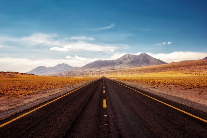 Deserto do Chile Atacama imagem de stock royalty free
