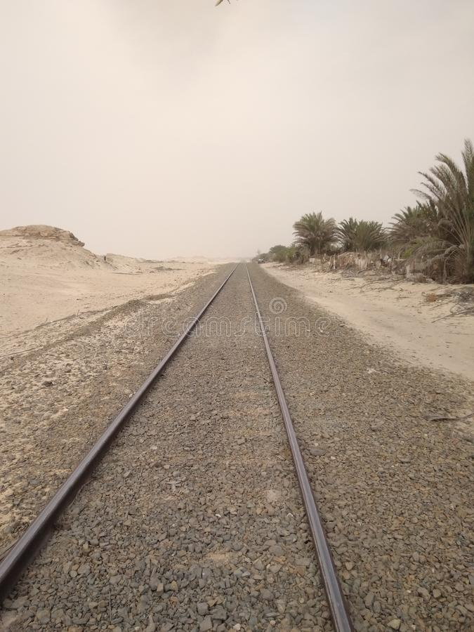 Deserto dos o?sis da estrada de ferro imagens de stock royalty free