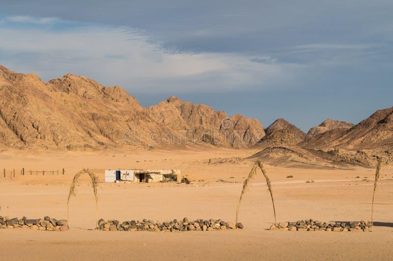 Deserto e montanhas egípcios fotos de stock royalty free