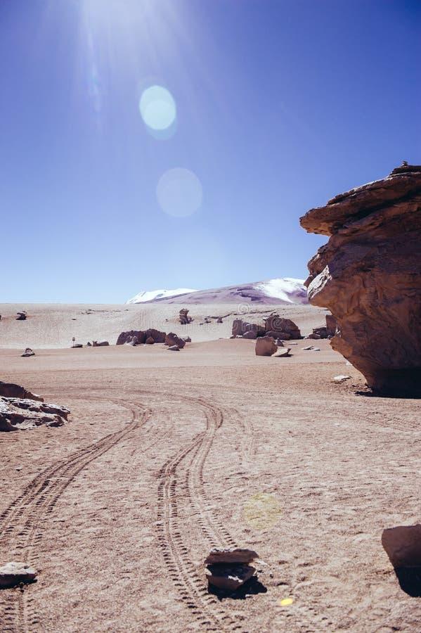 Deserto em Bolívia fotografia de stock royalty free