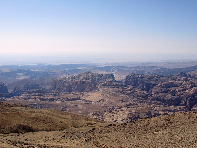 Deserto em Jordão fotos de stock