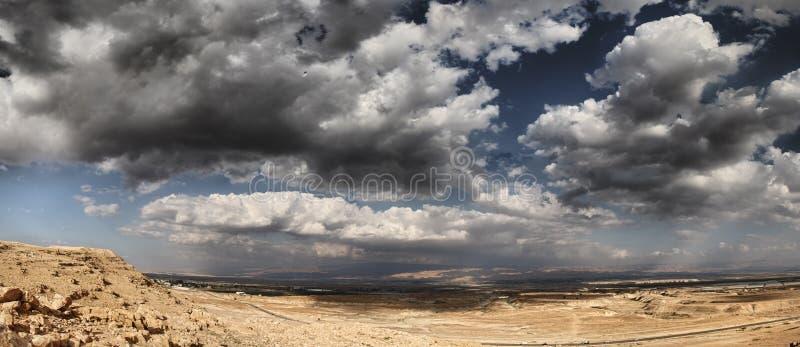 Deserto em Jordan Valley fotos de stock royalty free