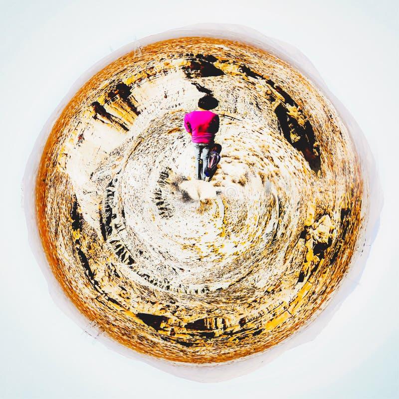 Deserto na garganta vermelha da rocha, EUA ilustração do vetor
