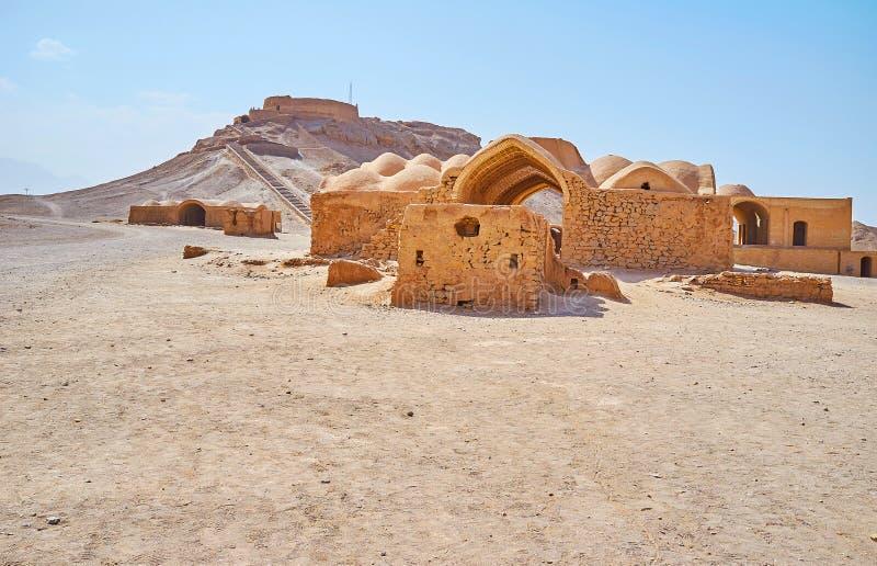 Deserto persiano di visita, Yazd, Iran fotografia stock