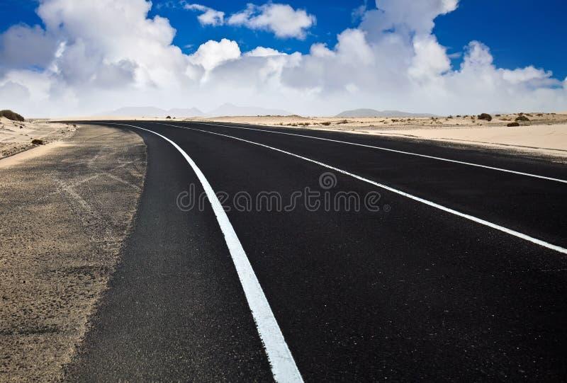 Deserto Road fotografia stock libera da diritti