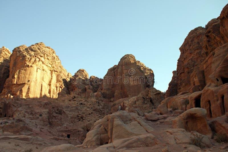Deserto rochoso de Jordão do sul, Ásia imagens de stock royalty free