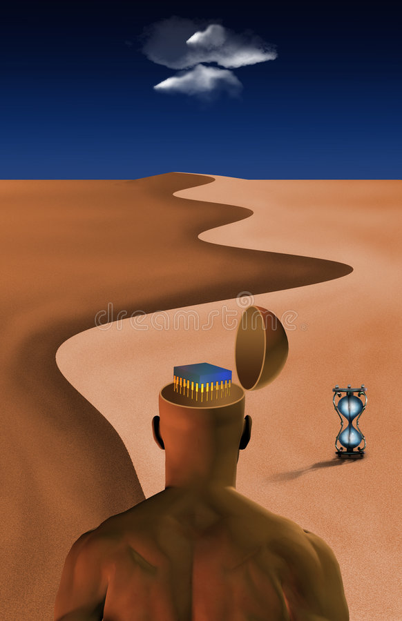 Deserto tecnologico illustrazione di stock