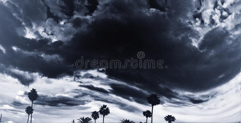 Deserto tempestoso Moonson fotografie stock